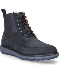 Swims - Lace Up Shoes Motion Country Boot Suede Black - Lyst
