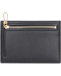Nanushka Creditcard Holder Araton Leather Imitation - Black