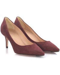 Unützer - Pumps 7169 Suede Bordeaux - Lyst