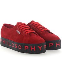 Quality Free Shipping Low Price With Paypal Cheap Online Sneakers suede Logo print red Philosophy di Lorenzo Serafini Finishline Cheap Sale Inexpensive Get To Buy Cheap Price PoGRNf9T