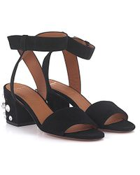 Givenchy - Sandals 6 Paris Suede Black - Lyst