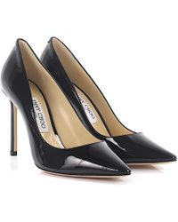 Jimmy Choo - Court Shoes Romy 100 Patent Leather Black - Lyst