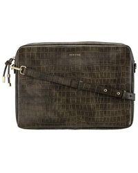 Maison Héroïne Laptop Bag Jamie 15 Vegan Leather - Green