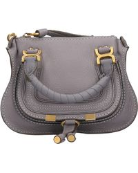 Chloé Marcie Crossbody Bag Cashmere Grey - Grau