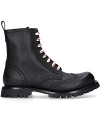 Gucci Lace-up Boots Martins Logo Black