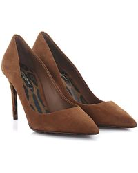 Dolce & Gabbana - Pumps Kate R Suede Brown - Lyst