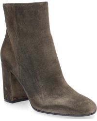 Gianvito Rossi - Ankle Boots Rolling 85 Calf-suede Olive - Lyst