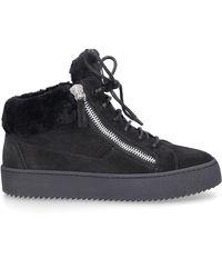 Giuseppe Zanotti 'Kriss' Sneakers mit Kroko-Effekt - Schwarz