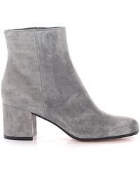 Gianvito Rossi - Ankle Boots Goatskin Suede Grey - Lyst