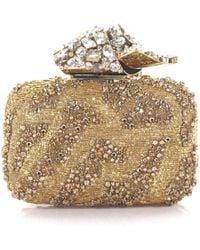adornos oro con ChooTela cristal de Lyst nube embrague bordada de Jimmy YwaCxTfYq