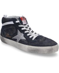 Golden Goose Deluxe Brand - High-top Sneakers Mid Star Suede Hole Pattern Used Blue-combo - Lyst