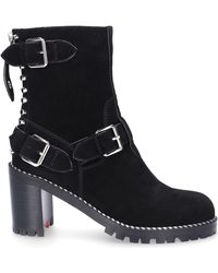 Gianni Renzi Ankle Boots Ra1289a Suede Rivets Black