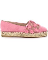Elie Saab Delicate Flower Slip On Espadrille - Pink