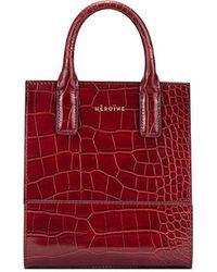 Maison Héroïne Shopper Kira Nano Calfskin - Red