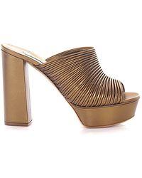 Casadei Schuhe Pantoletten bronze - Natur