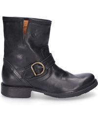 Fiorentini + Baker Schuhe Stiefel ELI Kalbsleder schwarz