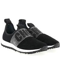 Jimmy choo Sneakers Slip-On OAKLAND mesh suede Logo Strass NajheVn