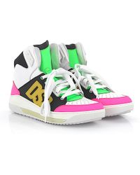 online retailer a25a0 ecd5a DSquared² - Sneaker Calfskin Nubuck Smooth Leather Textile Logo  Multicoloured - Lyst