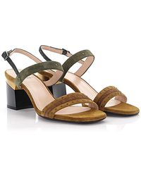Lanvin Sandals With Strap Suede Beige - Natural