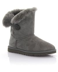UGG - Boots Bailey Button Suede Grey - Lyst