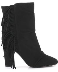 Giuseppe Zanotti Boots With Fringes Callie - Black