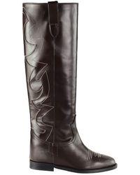 Via Roma 15 Boots Flat 3515 - Black