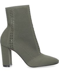 Gianvito Rossi - Ankle Boots Thurlow Nylon Perforated Olive - Lyst
