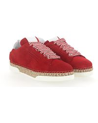 Sneaker A0Y550 Plateau suede red Tod's 2f5Ty5
