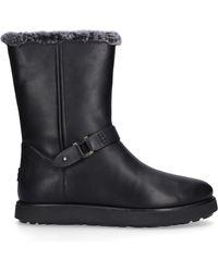 UGG Boots Classic Berge Short Lambskin Logo Black