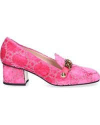 f48a34e0129 Gucci - Sylvie GG Mid-heel Pumps Velvet Pink - Lyst