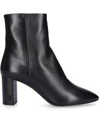 Saint Laurent - Ankle Boots Black Lou 70 - Lyst