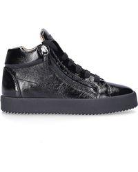 Giuseppe Zanotti High-top Sneakers Rullino Calfskin - Black
