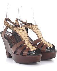 Henry Beguelin Wedge Sandals - Brown