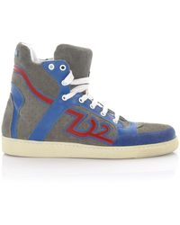 DSquared² High-top Trainers Sn105 Calfskin - Blue