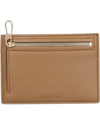 Nanushka Credit Card Holder Zip-up Leather Imitaton - Natural