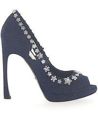 Dior Schuhe Peeptoes GARLAND Denim - Blau