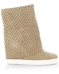 Casadei Schuhe Sneaker high beige - Natur