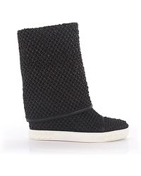 Casadei Wedge Trainer 2s783 Nappa Leather Black Reversable