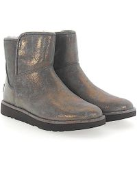 UGG - Boots Abree Mini 2 Suede Grey Bronze Finished - Lyst