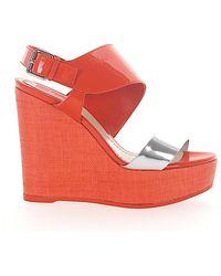 Dior Platform Sandals - Red