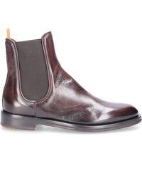 Elia Maurizi Schuhe Chelsea Boots TODI Kalbsleder Logo braun