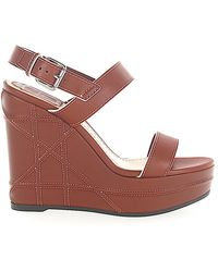 Dior Platform Sandals - Brown
