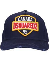 DSquared² Snapback Cap Baseball Gabardine - Blue