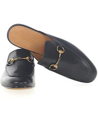 f3baa7df410 Lyst - Gucci Men s 406994blm001000o Black Leather Loafers in Black ...