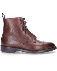 Crockett & Jones Schuhe Stiefeletten CONISTON Scotchgrain braun