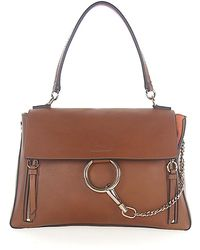 Chloé - Handbag Shoulder Bag Faye Day Leather Brown - Lyst