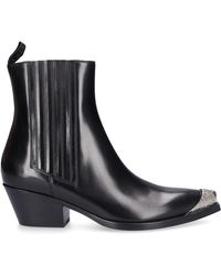 Sartore Schuhe Stiefeletten SR3655 Kalbsleder Metallspitze schwarz