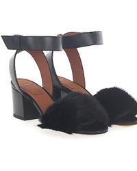 Givenchy - Sandals Leather Black Mink - Lyst