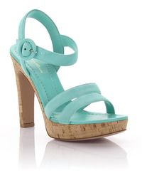 Sandals GN3583 Plateau Straps suede turquoise Gianvito Rossi ivMG2XMc