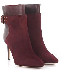 Jimmy Choo Ankle Boots Red